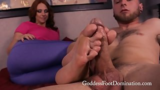 Goddess Brianna Mrs. Smith Footjob MILF HOT