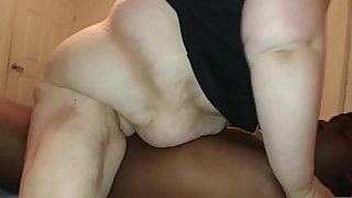 Mature BBW Rides BBC Until Orgasm Then Gets Ass Pounded And Anal Creampied