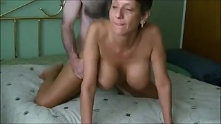 Hot breasted mature lady get creampied