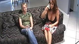 Rachel Steele MILF402 - Mom is helping stepdaughter practice sucking cock