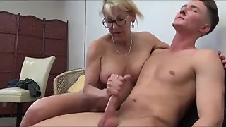 VIRGIN TEENAGER FUCKS HIS HORNY STEP GRANNY!! TABOO