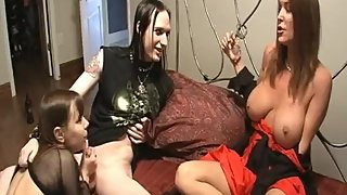 Rachel Steele MILF474 - Gothic Couple fucks horny milf with strap on!