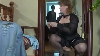 Mature stepmom convinced her 18yo virgin stepson to fuck