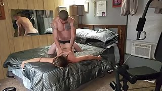 sexy brunette milf fucked doggie style after intense oral orgasm