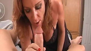 Rachel Steele MILF103 - Taboo Mom deep throats stepson to help him Cummm!!
