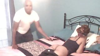Don spanks nicole with a slipper for being bad