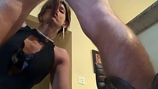 Glamgurlxoxo: sexy cd gives very messy-aggressive bj to hung cowboy