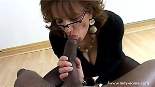 Interracial Pantyhose Sex (Lady Sonia)