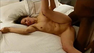Hot 30something milf Jessica fucks and cums on BBC in hotel room