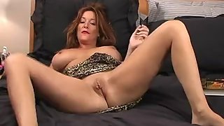 Rachel Steele MILF13 - Cougar giving handjob instruction with her dildo