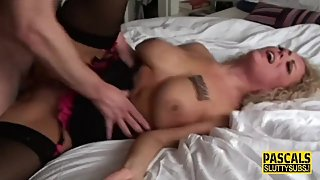 Fetish milf submissive throated and pounded