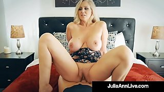 Busty Blonde Cougar Julia Ann Banged By Nervous Hard Cock Fan!