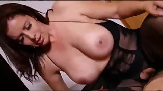 Slutty stepmom teaches her virgin stepson how to fuck her pussy