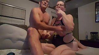 BTW Smoking & Rubbing Daddys Big Cock