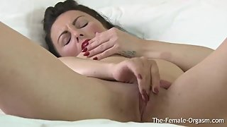 Multi Orgasmic MILF Bates with Hitachi to Two Vagina Clenching Orgasms