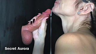MILF Gloryhole Cum in Mouth