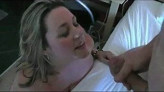 Wife with huge tits shared and gets 2 facials
