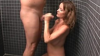 Rachel Steele HJ13 - Milking Stepson in the shower