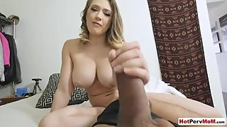 My busty MILF stepmother masturbating in front of me