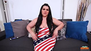Latina MILF Angelina Castro Hot Fireworks 4th of July Suck Off!