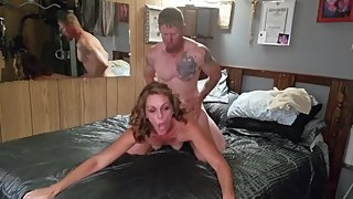 Sexy amateur couple's hot passionate sex after work