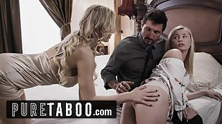 PURE TABOO Kinky Step-Mom & Step-Daughter Interview Daddy