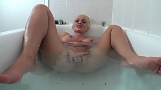 Horny in a bath