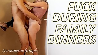 Fucking in the room during family meal sweetmariedcouple