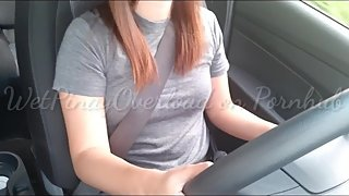 Student Pinay Driver Public Car Masturbation and Squirting