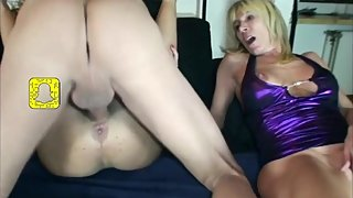 Creampie Eating And Anal Sex Threesome For 2 German Milfs [HD]