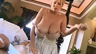 Sexy stepmom made her stepson cum in morning