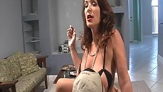 Rachel Steele Smoking09 - Angry Mom Smoking and Tease her Stepson Part 1