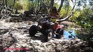 HD Thai teen heather goes atving in paradise and gets huge throatpie