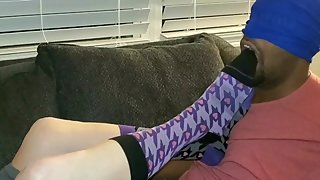 Smelly socks foot gagging