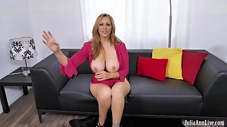 Julia Ann Gets Big Dripping Cum Shot All Over Her Big Tits!!