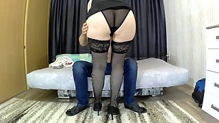 Mom with a big ass has sex with her stepson. Mother and stepson real sex
