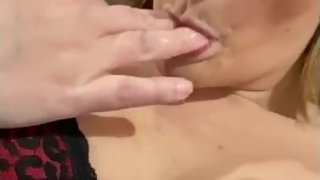 Fat ass milf canТt resist tasting pussy after fingering herself