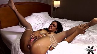 Asian MILF Maxine X Gets Double Penetration On A Big Black Cock Booty Call!