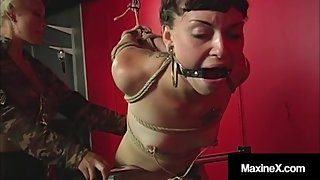 Newbie Nympho Kaera Cruz Is Bound & Flogged By Milf Maxine X