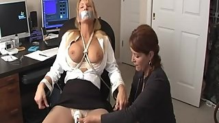 Rachel Steele FO63 - MILF Boss Lady dominates blonde employee