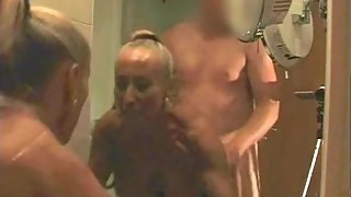 Lisa32FF fucked hard doggy in front of mirror. Tits swinging, filthy talk.