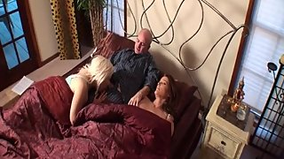 Rachel Steele MILF852 - Daddy is fucking her girl while mom napping