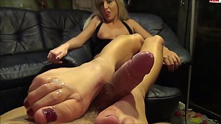 After party footjob (German amateur)