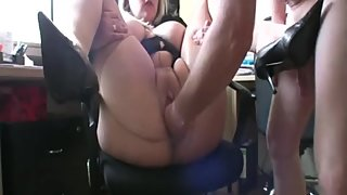 Mara Love fisted and fucked in pantyhose