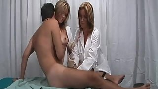 Rachel Steele HJ53 - Two Nurses milking young boy