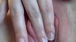 Sam fingers her beautiful and wet pussy.